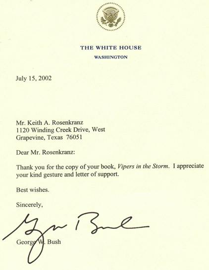 Letter from the White House